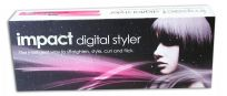 IMPACT DIGITAL HAIR STYLER STRAIGHTENER CURL SALON EXCLUSIVE PROFESSIONAL PINK